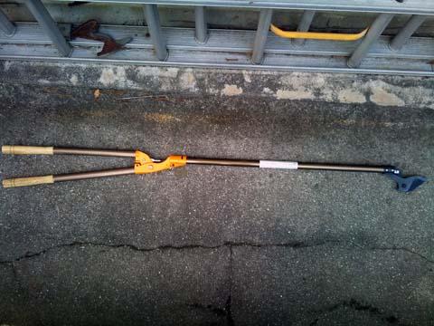 ガーデニング:ニシガキ工業の高枝用ハサミ 太丸 N-154